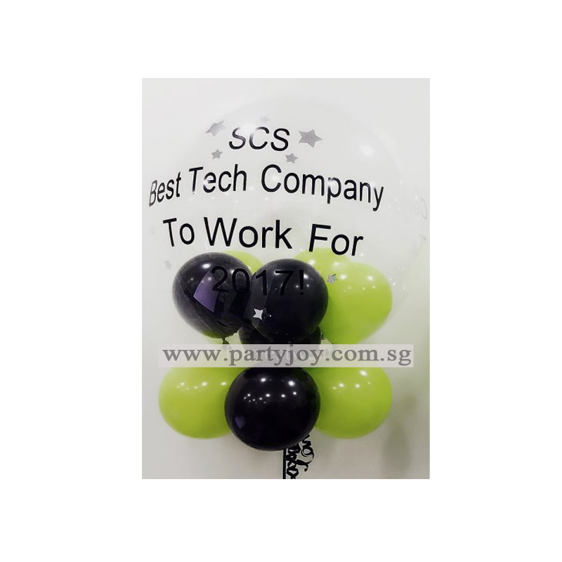 Corporate Customize Bubble Balloon Size: 24""