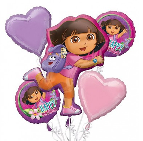 Dora The Explorer Birthday Balloon Bouquet