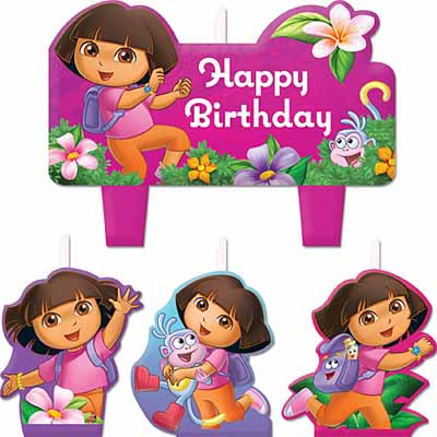 Dora the Explorer Birthday Candle Set
