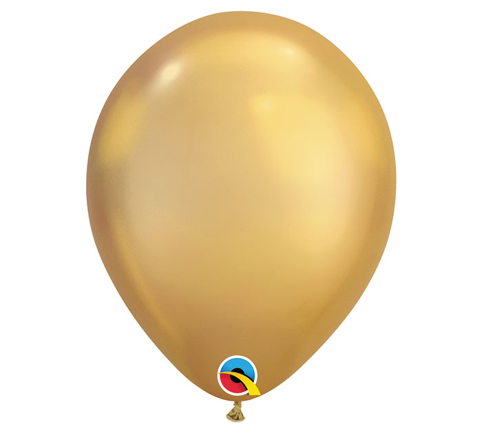 Chrome Gold Helium Latex Balloon