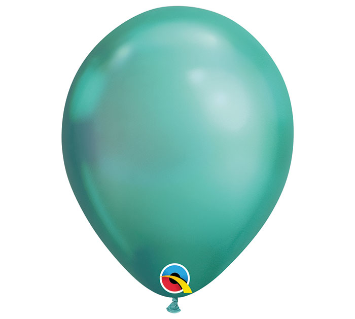 Chrome Green Helium Latex Balloon
