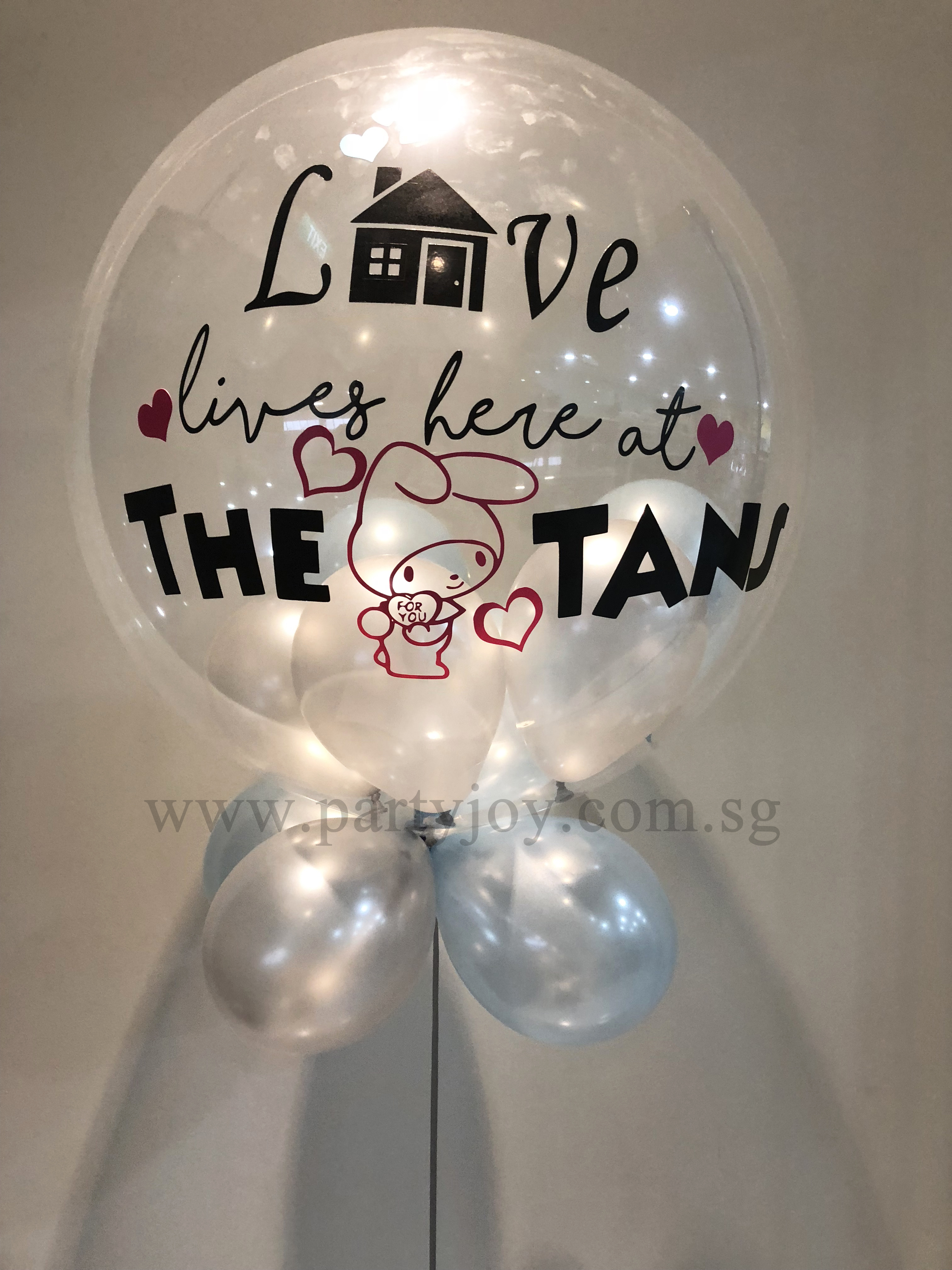 Housewarming Customize Bubble Balloon Size: 24""