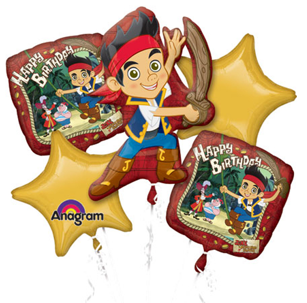 Jake and the Neverland Pirates Balloon Bouquet