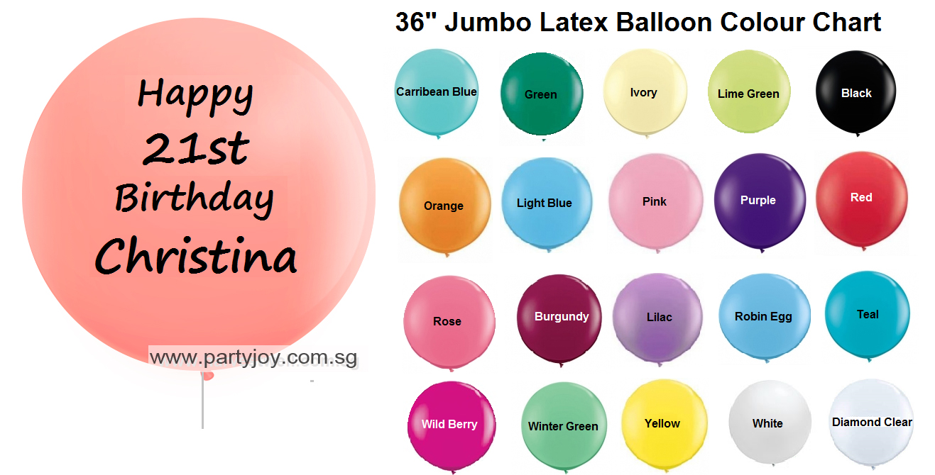 All products party joy balloon party shop jumbo helium latex customize print balloon size 36 ccuart Image collections