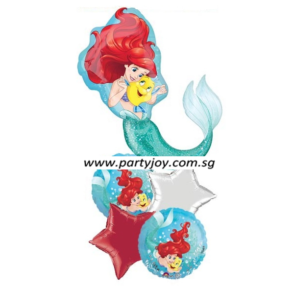 Ariel & Flounder Dream Balloon Package