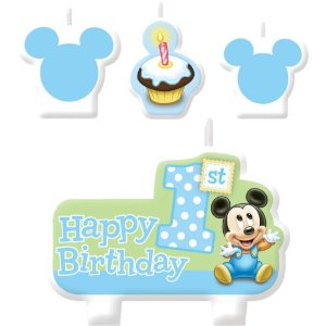 Baby Mickey 1st Birthday Candle Set