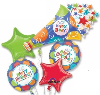 Birthday Party Horn Balloon Bouquet