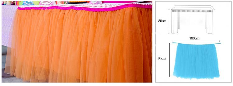 PEACH TUTU TABLE SKIRT