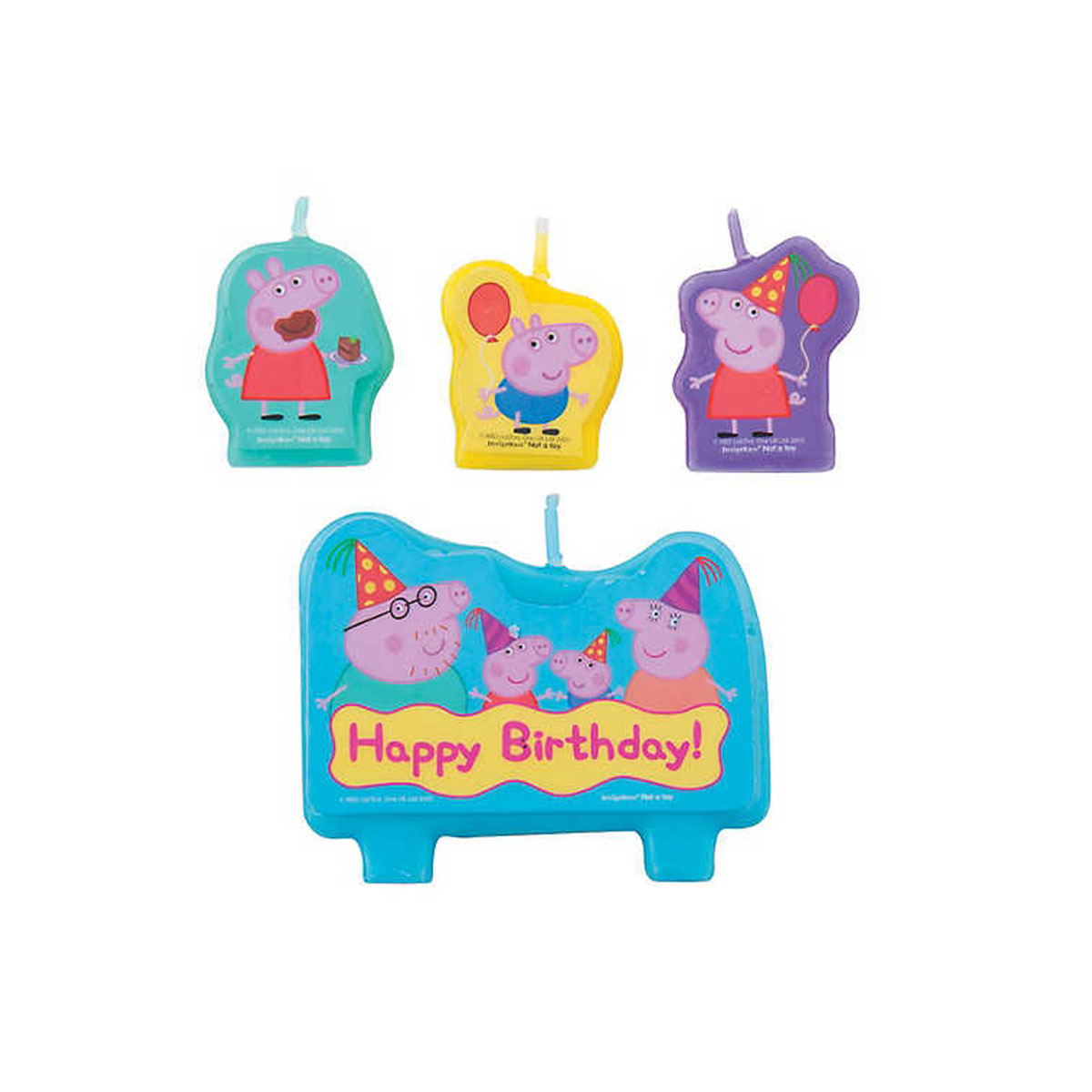 Peppa Pig Birthday Candle Set