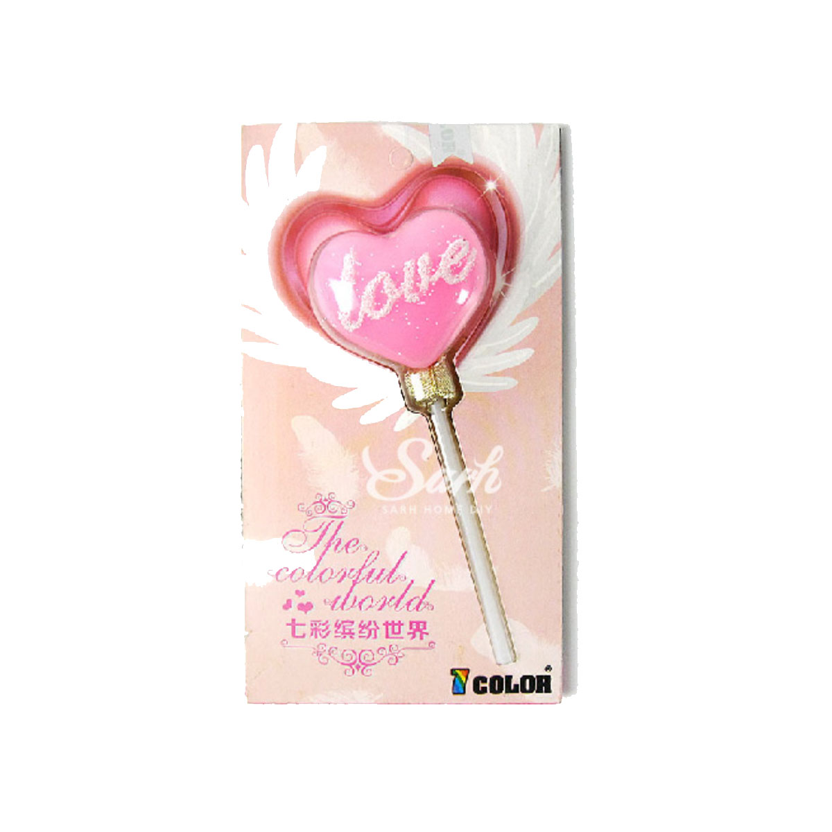 Pink Heart Shape Love Candle