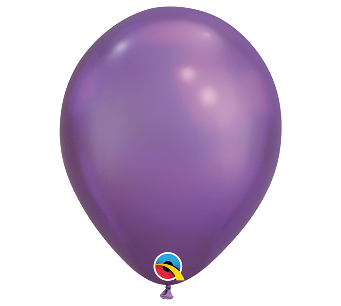 Chrome Purple Helium Latex Balloon