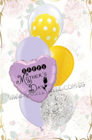 Customize Purple Pastel Balloon Bouquet