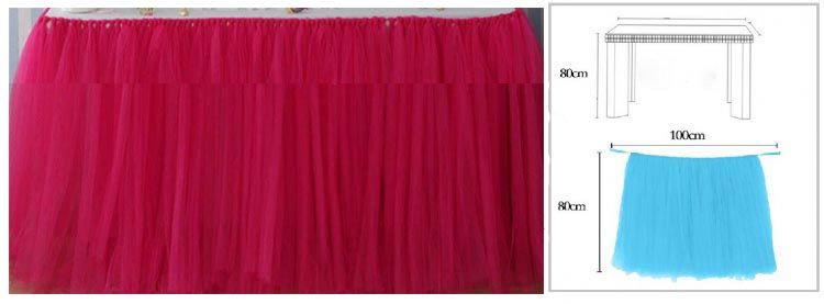 FUCHSIA TUTU TABLE SKIRT