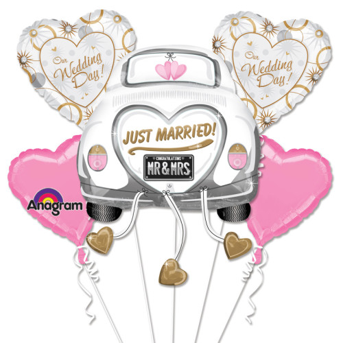 Wedding Car Just Married Balloon Package